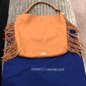 Rebecca Minkoff Tan Leather Fringe handbag